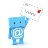 e-post för tecken 3d Arkivfoto