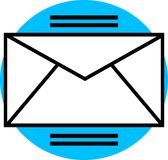 e-postdiagram Royaltyfri Fotografi