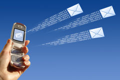 e-posten överför Arkivbild