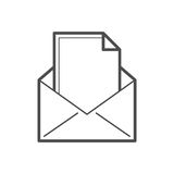 e-posten packar öppet motta för symbolsposter in Royaltyfria Foton