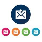 e-posten packar öppet motta för symbolsposter in Kommunikationssymbol Royaltyfria Bilder
