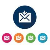 e-posten packar öppet motta för symbolsposter in Kommunikationssymbol vektor för set för tecknad filmhjärtor polar Royaltyfri Foto