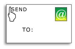 e-postkuvertet överför till Royaltyfria Foton