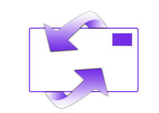 e-postsymbol Royaltyfria Bilder
