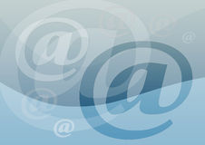 e-postsymbol stock illustrationer