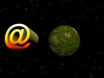 e-postsymbol Royaltyfri Fotografi