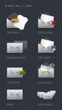 e-postsymboler stock illustrationer