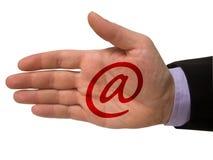 e-posttecken Fotografering för Bildbyråer