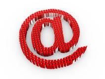 e-posttecken för cylindrar 3d Royaltyfri Foto