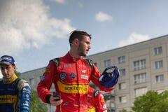 E-Prix FIA惯例E颁奖仪式的Sébastien Buemi和丹尼尔Abt 库存图片