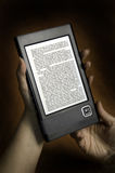 E- programa de lectura del libro Fotografía de archivo libre de regalías