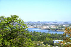 E Pyongyang, DPRK - Północny Korea Fotografia Stock