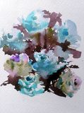 E r Όμορφος τρυφερός ρομαντικός θερινός κήπος με τα λουλούδια ελεύθερη απεικόνιση δικαιώματος