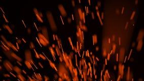 E r Летание огня искрится r r иллюстрация вектора