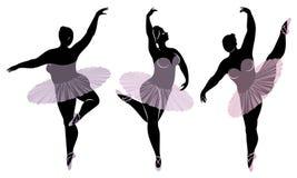 ?? E E r 妇女是芭蕾舞女演员 库存例证