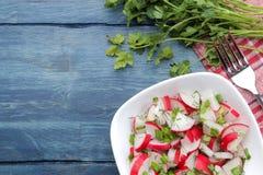 E r 烹调的沙拉成份 r 图库摄影