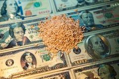 E 农业收入概念 免版税图库摄影