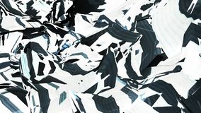 被打碎的多角形小故障眨眼睛挥动的表面摘要流程无缝的圈动画背景新的质量动力学 向量例证