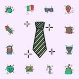 领带,绿色象 E 向量例证