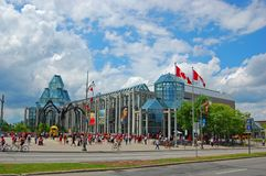 加拿大的国家美术馆在街市渥太华 库存照片
