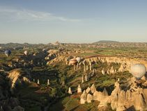 在cappadocia的气球 免版税库存图片