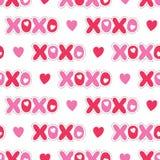 E r Amor XOXO Hugs e beijos ilustração do vetor