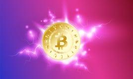 E r Bitcoin kopalnictwo Cryptocurrency Zdjęcie Stock