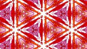 Líquido en los contenedores forma células estructura como el efecto caleidoscopio rebotan como en los altavoces de música cálido ilustración del vector