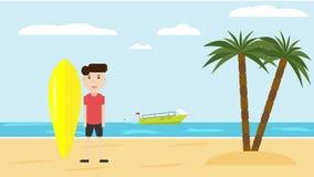 E r Concepto activo de las vacaciones stock de ilustración