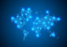 E r Concepto de la conexi?n de red global alambre ilustración del vector
