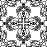 E r Dekorativ blom- repetition stock illustrationer