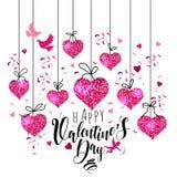 E r Diseño para la tarjeta del día de San Valentín y la boda stock de ilustración