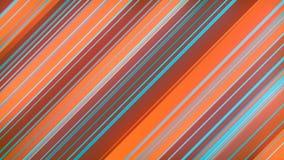 彩色几何图形的三维绘制 计算机生成的循环动画 几何图案 4k UHD 库存例证