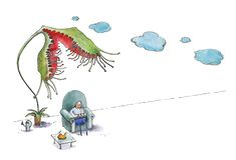 E r kresk?wki kota komputerowy humorystyczny ilustracyjny lying on the beach m??czyzna sto?u dzia?anie akwarela ilustracja wektor