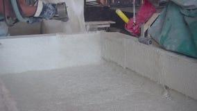 混凝土制品的生产 水泥 混凝土结构的制造 纤维浇筑混凝土 影视素材