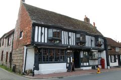 Taverne d'auberge d'Alfriston The Star, East Sussex photo stock