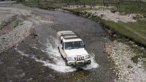 Непал движение по реке аэрофотосъемка сток-видео