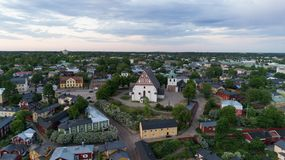 E r Porvoo, Finnland stockfoto