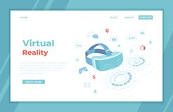E r Spiele der virtuellen Realit?t stock abbildung