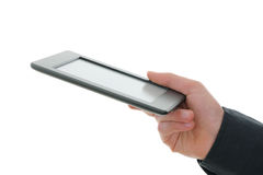 E-reader and hand Royalty Free Stock Photo