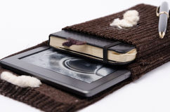 E-reader and notebook cover Royalty Free Stock Photography