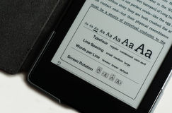 E-Reader Screen Options. Accessibility Stock Images