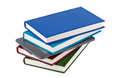 E-reader of the stack of books. Royalty Free Stock Photo