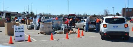 E-reciclaje de evento, Ann Arbor MI Imagen de archivo