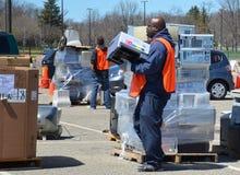 E-reciclaje de evento, Ann Arbor MI Imagen de archivo libre de regalías