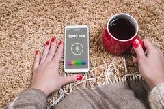 E Reconnaissance vocale Intelligence artificielle photo stock