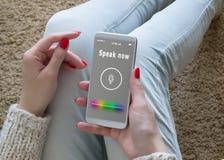 E Reconnaissance vocale Intelligence artificielle photo libre de droits