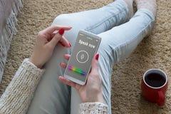 E Reconnaissance vocale Intelligence artificielle image libre de droits