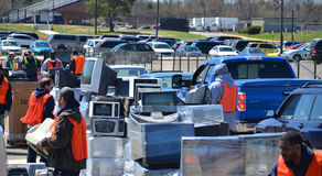 E-recycling event, Ann Arbor. MI Royalty Free Stock Photography