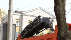 E Reparatie van wegen stock videobeelden